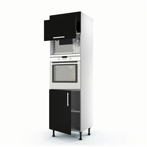 meuble cuisine 3 portes meuble de cuisine colonne noir 3 portes délice h 200 x l