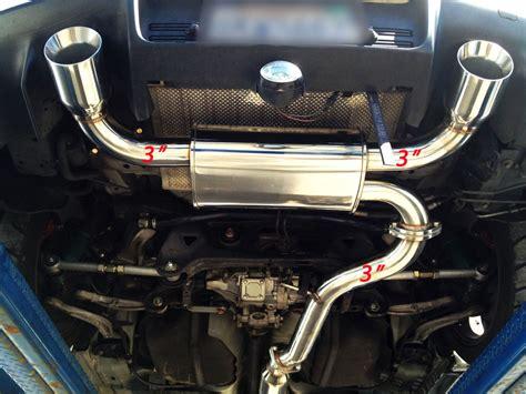 srs dual catback exhaust system 08 14 mitsubishi lancer evo x evolution 10 jdm ebay