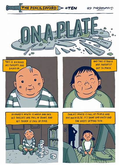 Comic Strip Plate Story Rich Poor Families