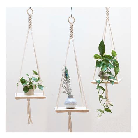 Hanging Pot Shelf by Macrame Plant Hanger Macrame Shelf Hanging Plant