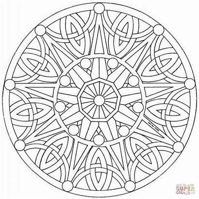 Mandala Coloring Celtic Mandalas Pages Flower Printable