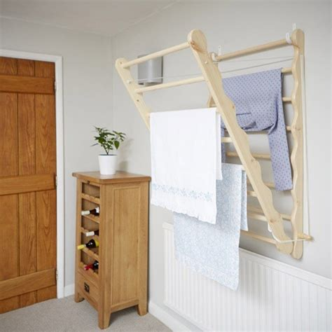Drying Cupboards by Wall Mounted Wooden Clothes Airer Pine Storage Ideas