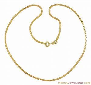 22K Gold Chain (14 Inches) - ChPl9850 - 22K Gold Chain ...
