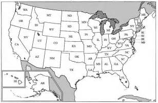 USA Map with State Abbreviations