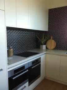 kitchen tiles ideas for splashbacks black l mosaic tiles for a kitchen splashback for the
