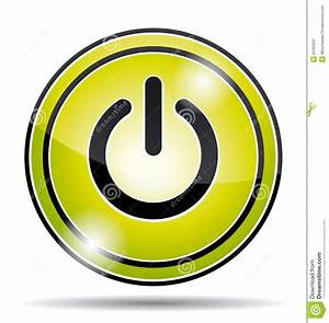 Green Electrical Power Button Icon. Stock Vector - Image ...
