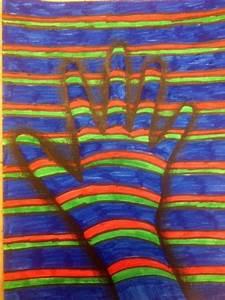 3de Design Op Art Hands Op Art