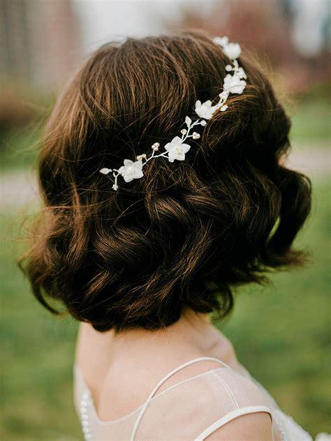 gorgeous short hairstyles   wedding day