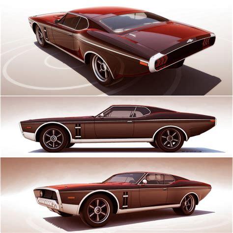 retro futuristic concepts   car body design