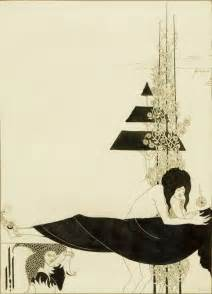 Black And White Artwork For Bathroom by Aubrey Beardsley The Discovery Of A Long Lost Drawing