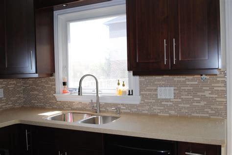 kitchen countertop  backsplash modern kitchen toronto  caledon tile bath kitchen
