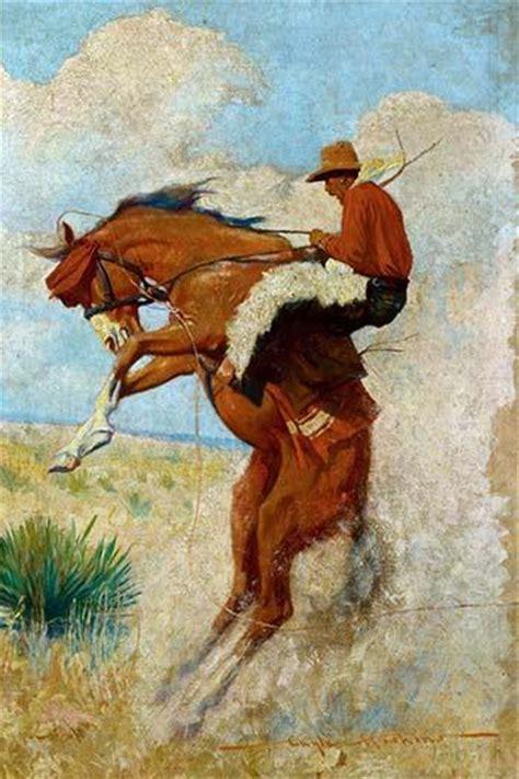 cowboy  bucking bronco protectedart
