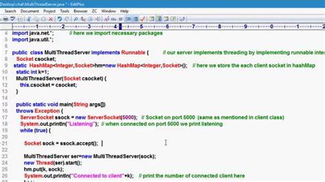Client Server Application Socket Programming,java Program