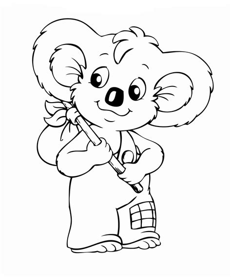 blinky bill coloring pages