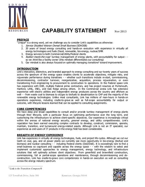 link resources sdvosb capabilities statement
