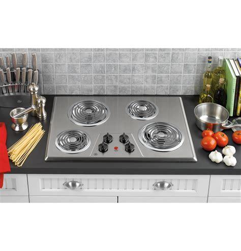 ge electric cooktop ge 174 30 quot built in electric cooktop jp328skss ge appliances