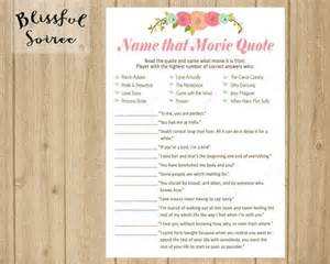 Movie Love Quotes Bridal Shower Game