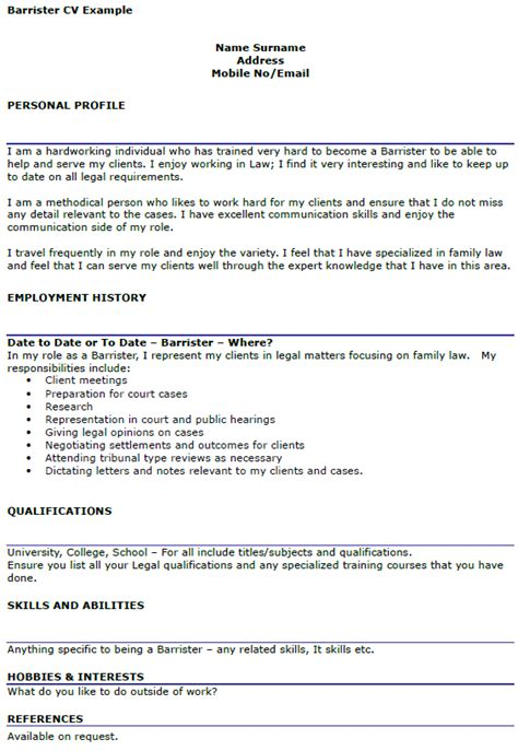 sidebar resume template lawyer barrister cv exle icover org uk
