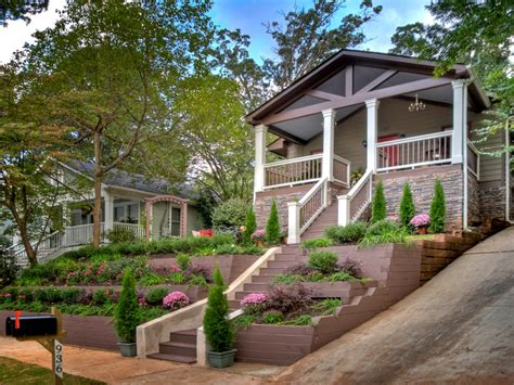 house on hill landscaping lush landscaping ideas for your front yard landscaping ideas and hardscape design hgtv