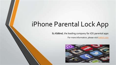 parental apps for iphone iphone parental lock app kidtrol parental app