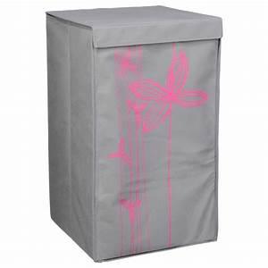 Panier à Linge Pliable : panier linge pliable zen fleur gris clair ~ Dailycaller-alerts.com Idées de Décoration