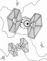Fighter Tie Coloring Star Wars Printable sketch template