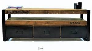 Meuble Tv Maison Du Monde : meuble tv industriel pas cher ~ Teatrodelosmanantiales.com Idées de Décoration