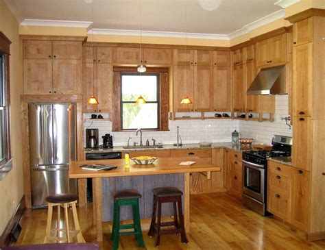 Modern Small L Shaped Kitchen Designs With Brown Wood