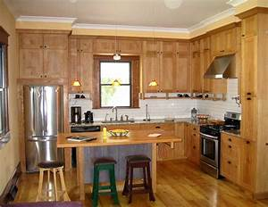 modern small l shaped kitchen designs with brown wood With l shaped small kitchen design