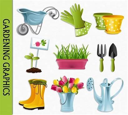 Garden Clipart Clip Gardening Flowers Plant Popular
