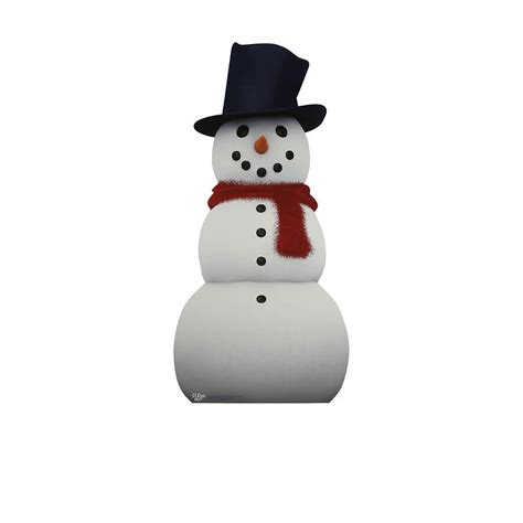 snowman life size stand out cut out shop fathead for