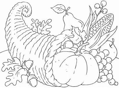 Coloring Pages November Thanksgiving Cornucopia Basket Printable