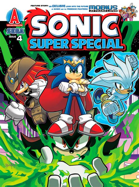 sonic super special magazine issue  mobius