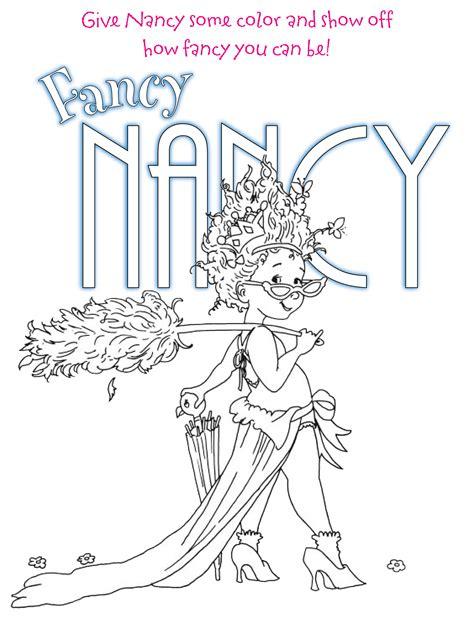 Fancy Nancy Coloring Pages Az Coloring Pages