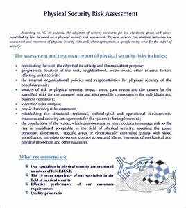 security risk assessment 7 free samples examples format With physical security survey template