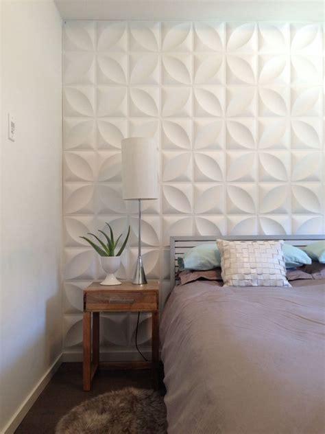 feature wall in the bedroom modern and simple 3d wall
