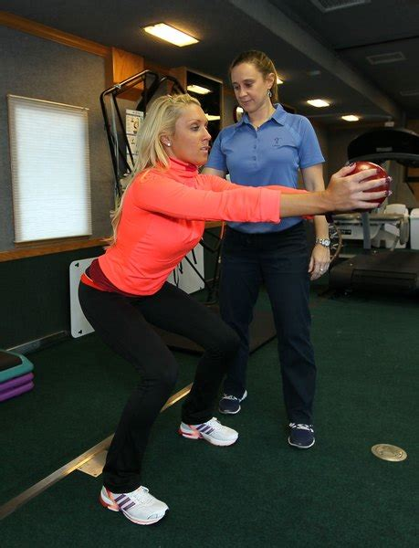 knees exercise natalie squats gulbis bad quads kettlebell workout swings hamstrings shoot hindu squat strengthen helping woman exercises zimbio getty