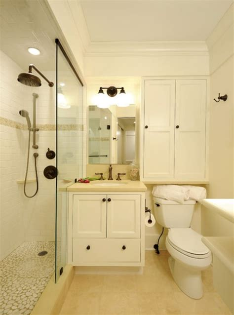 Small bathrooms with clever storage spaces