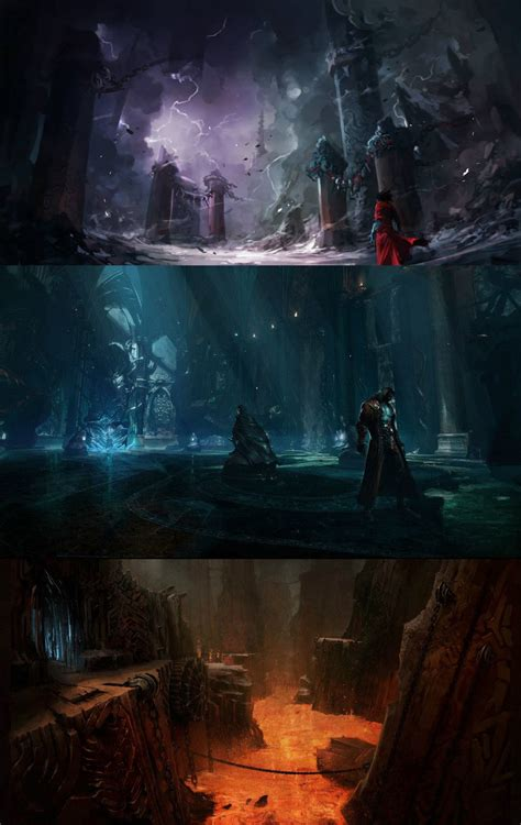 environment concepts characters art castlevania