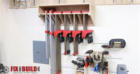 space saving parallel clamp rack plans fixthisbuildthat