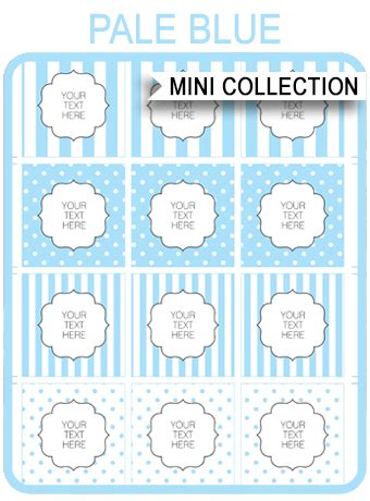blue baby shower printable templates