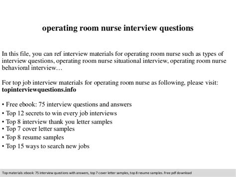 Questions For Operating Room by Operating Room Questions