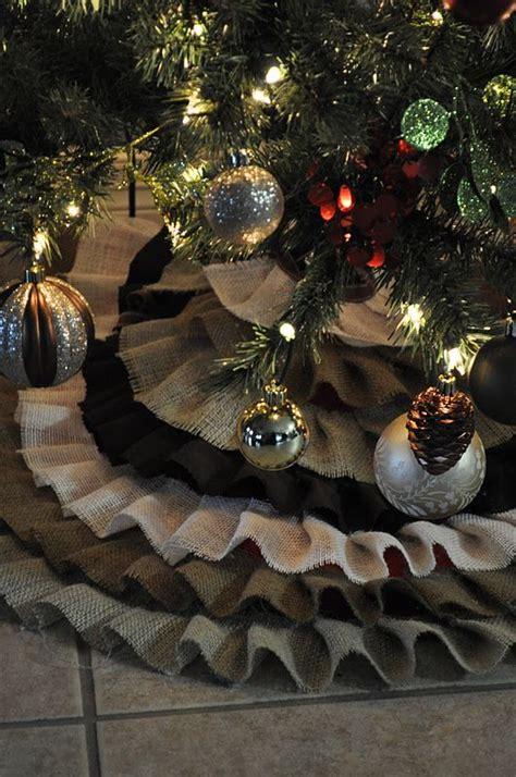 burlap christmas tree burlap christmas and tree skirts on