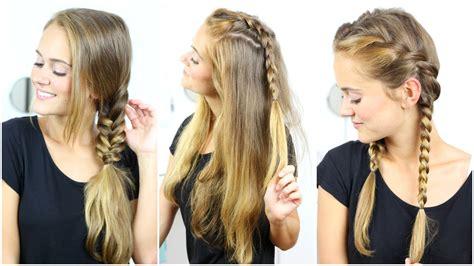 einfache flechtfrisuren fake braid easy hairstyles