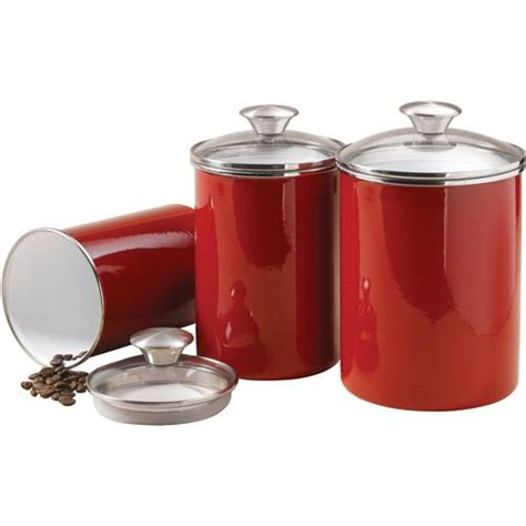 Kitchen Jars Canada by Tramontina 3 Covered Porcelain Canister Set