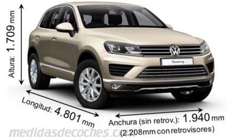 medidas  dimensiones de coches marca volkswagen