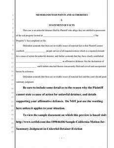 sample california motion for summary judgment in unlawful With summary judgment motion template