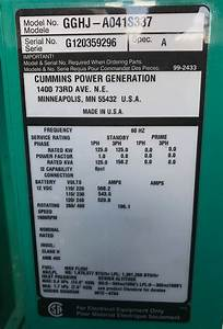 New Cummins 125kw Stationary Natural Gas Generator