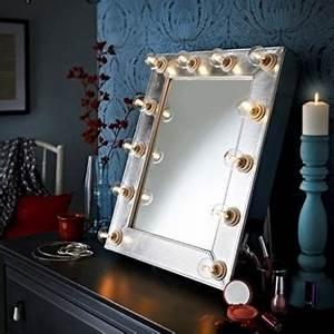 Make Up Spiegel : der broadway silber kunstleder effekt hollywood beleuchtet led dimmbar make up spiegel licht ~ Orissabook.com Haus und Dekorationen