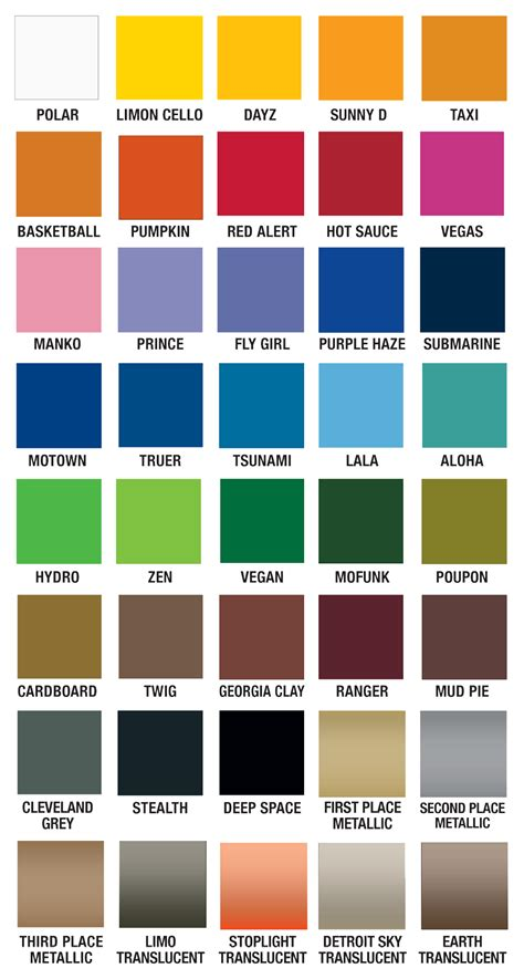 plutonium paint color chart spraypaint plutoniumpaint